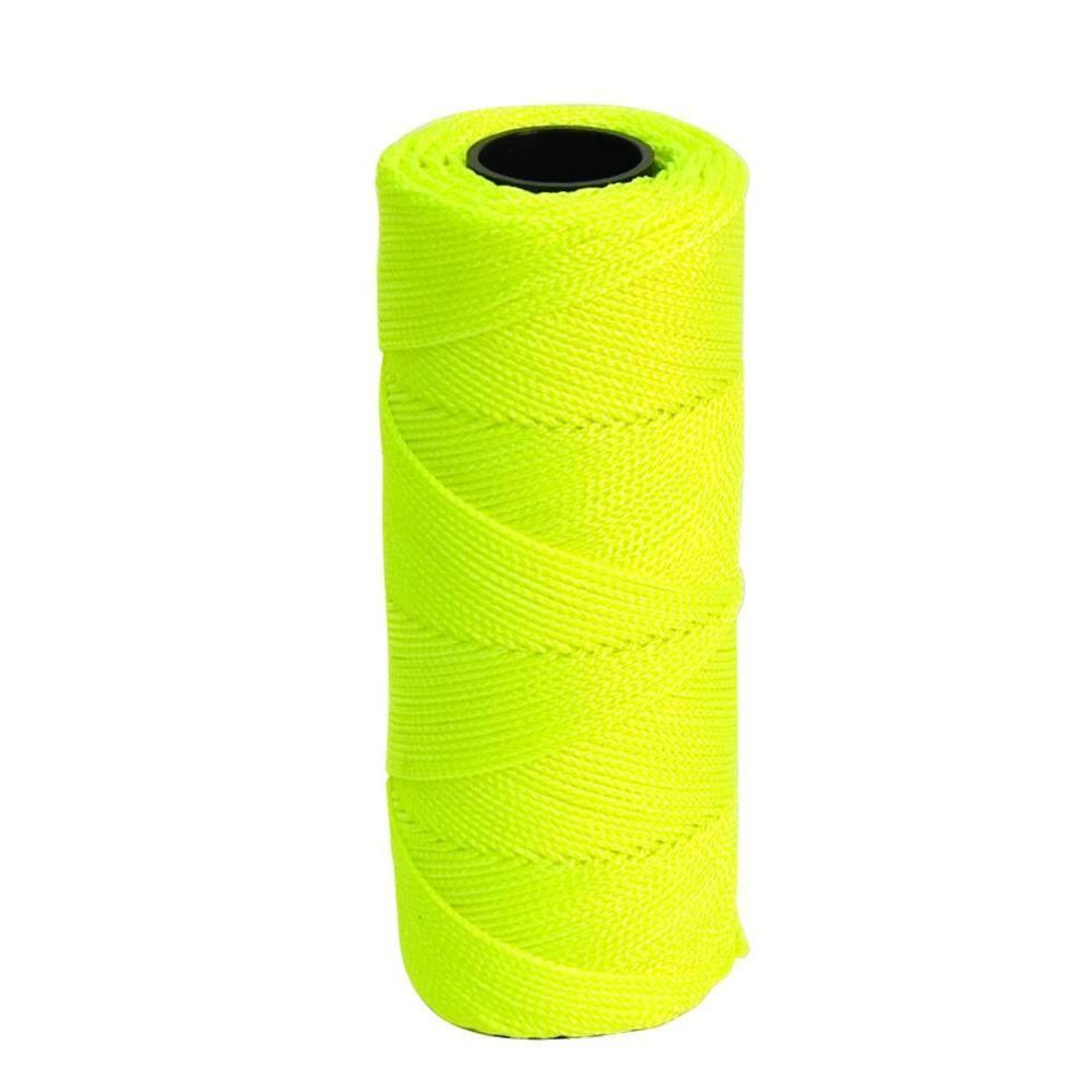 250 Feet, Yellow Braided Nylon Mason Line Twine Cord
