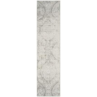 Princeton Gray/Beige 2 ft. x 10 ft. Floral Runner Rug