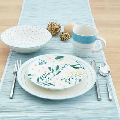 Elodie 16-Piece Casual Multi Ceramic Dinnerware Set (Service for 4)
