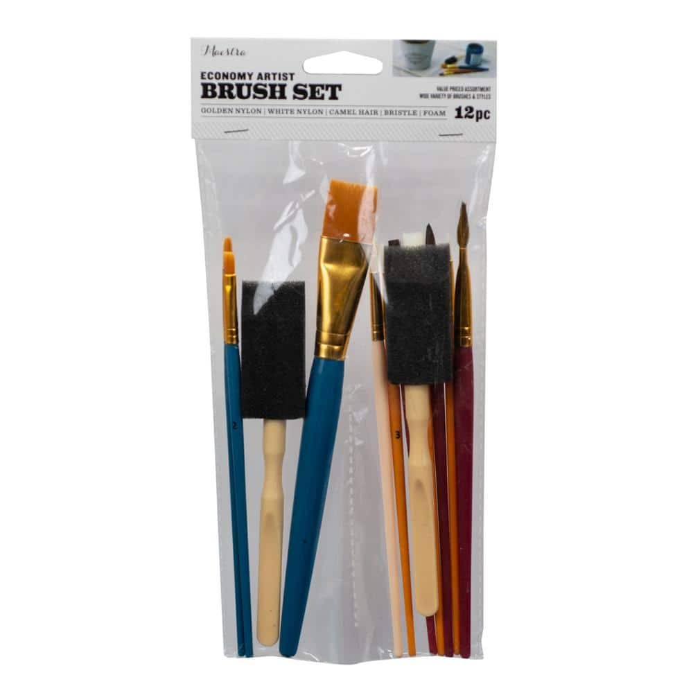 Linzer Economy Artist Brush Set (12-Pack)