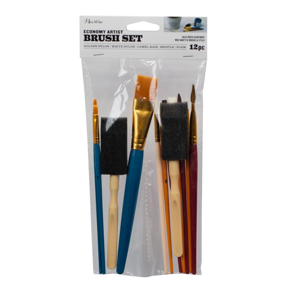 Economy Artist Brush Set (12-Pack)
