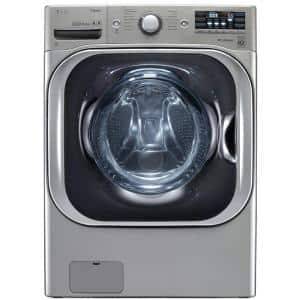 5.2 cu. ft. High Efficiency Mega Capacity Front Load Washer with Steam and TurboWash in Graphite Steel, ENERGY STAR