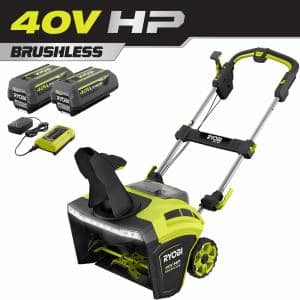 40V HP Brushless 21 in. Cordless Single Stage Snow Thrower with (2) 5.0 Ah Batteries