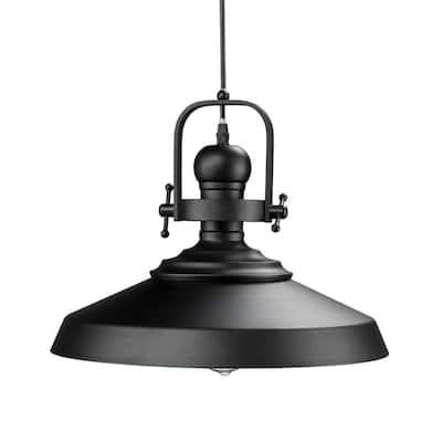 Dido 1-Light Matte Black Pendant Lamp