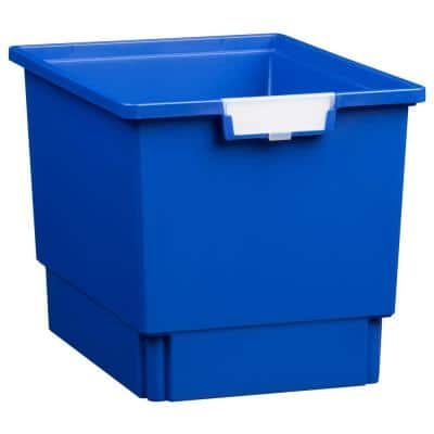 7.5 Gal. - Tote Tray - Slim Line 12 in. Storage Tray in Primary Blue