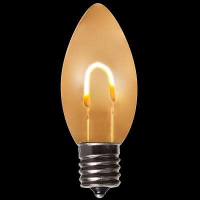 FlexFilament C9 LED Shatterproof Warm White Vintage Edison Replacement Light Bulbs (5-Pack)