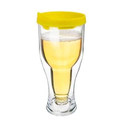 Yellow/Gold Lid 14 oz. Double Wall Acrylic Beer Tumbler