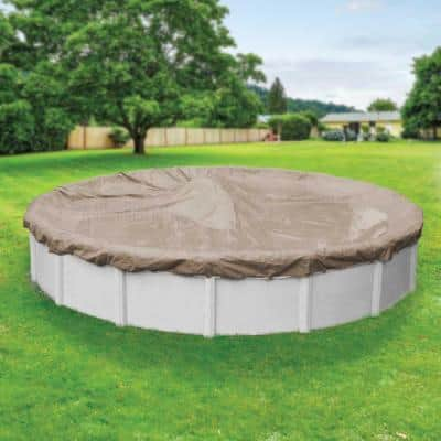 Defender 15 ft. Round Sand Winter Pool Cover