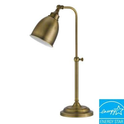 7 in. Antique Bronze Metal Adjustable Pharmacy Table Lamp