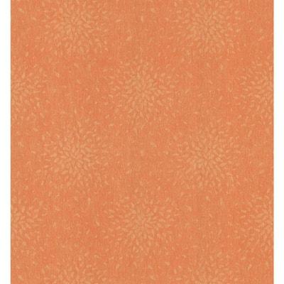 Sunburst Medium Orange Paper Strippable Roll Wallpaper (Covers 56.4 sq. ft.)
