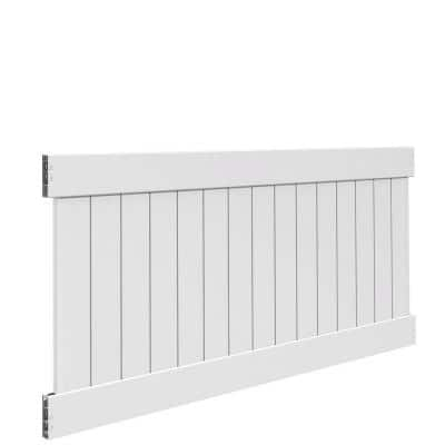 Linden 4 ft. H x 8 ft. W White Vinyl Privacy Fence Panel Kit