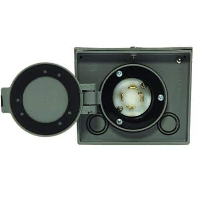 30 Amp Raintight Resin Power Inlet Box