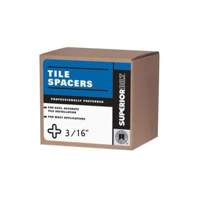 SuperiorBilt 3/16 in. Regular Long Tile Spacers (650-Pack)