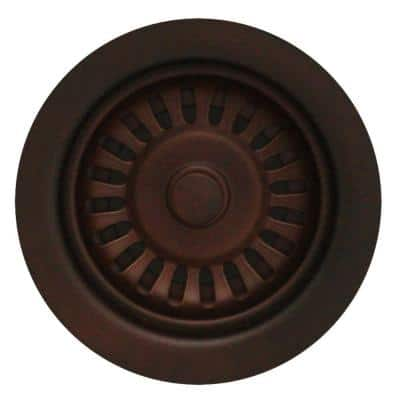 3.5 in. Basket Strainer in Mahogany Bronze