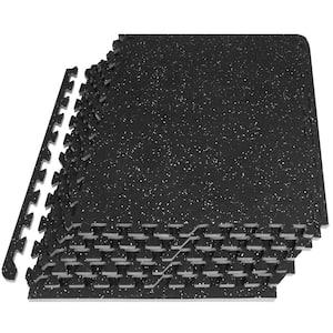 Rubber Top Exercise Puzzle Mat Grey 24 in. x 24 in. x 0.5 in. EVA Foam Interlocking Tiles (6-Pack (24 sq. ft.)