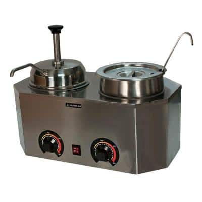 Pro-Style 6 L Ladle Pump Warmer with 2 Crocks