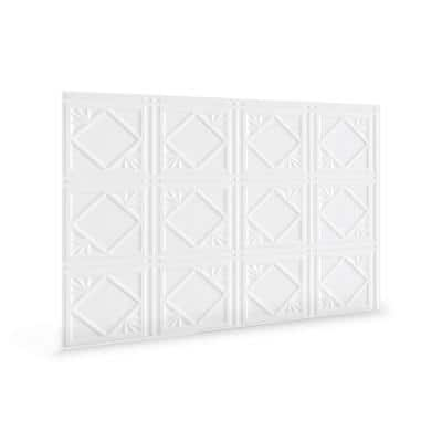 18.5 in. H x 24.3 in. L Artnouvo Decorative 3D PVC Backsplash Panels in White 12-Pieces