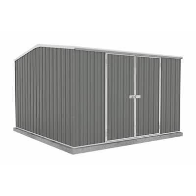 Premier 10 ft. x 10 ft. Woodland Gray Metal Shed
