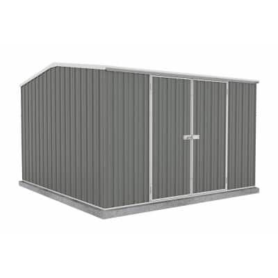 Premier 10 ft. x 10 ft. Woodland Gray Metal Shed