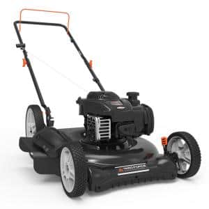 21 in. 140 cc 500e Series Briggs & Stratton Gas Walk Behind Push Mower with 2-in-1 Cutting System