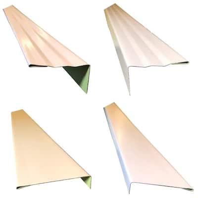 2.5 x 2.25 in. x 85 in. Complete Aluminum Metal Brickmold and Jamb Door Trim Cover Kit - 36 in. Door w/Brick, Almond