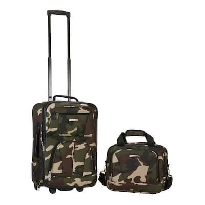 Rio Expandable 2-Piece Carry On Softside Luggage Set, Camo