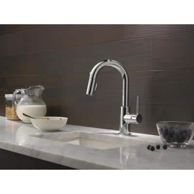 Trinsic Single-Handle Pull-Down Sprayer Bar Faucet with MagnaTite Docking in Chrome