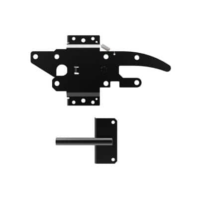 10.75 in. x 5.5 in. Black Stainless Steel Standard 2-sided Post Latch