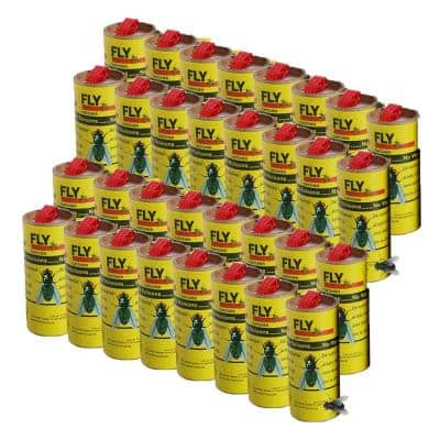 Yellow Sticky Insects, Flies, Gnats Strips Catcher Trap (32-Pieces)