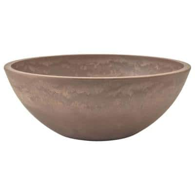 Garden Bowl 12 in. x 4-1/2 in. Taupe PSW Pot