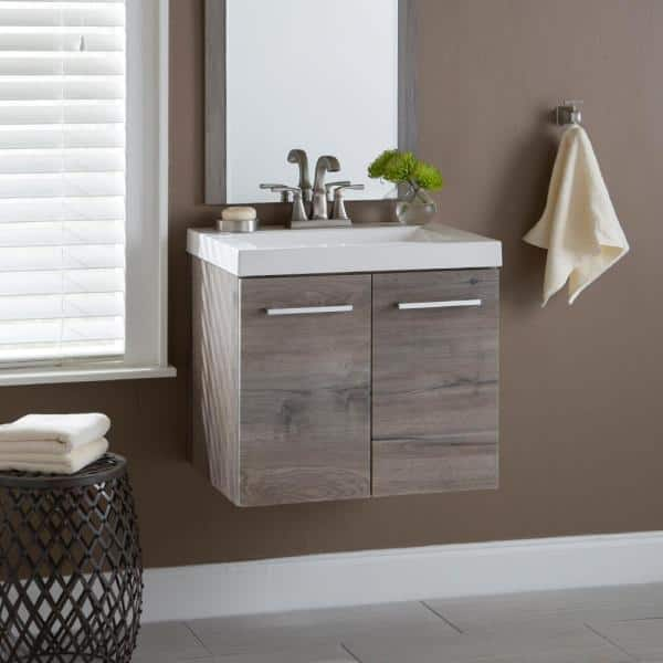 D Wall Hung Bath Vanity, Hanging Bathroom Vanity
