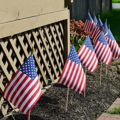 8 in. x 12 in. Polycotton U.S. Stick Flag