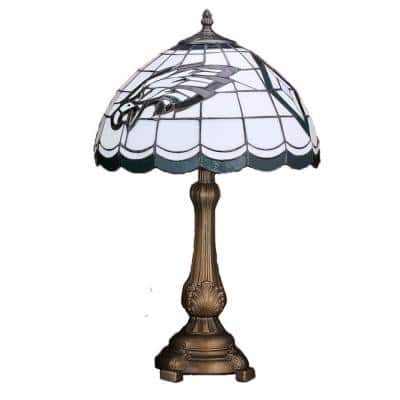 NFL - 19.5 in. Antique Bronze Lions Tiffany Table Lamp