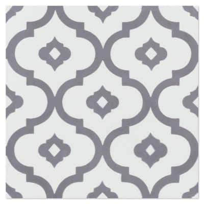 Kasbah Excalibur 8 in. x 8 in. Cement Handmade Floor and Wall Tile (Box of 16/ 6.96 sq. ft.)