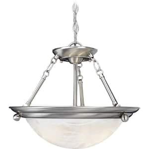 Lunar 2-Light Brushed Nickel Interior Pendant