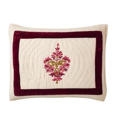 Orleans Multicolored Geometric Textured Cotton Blend Standard Sham