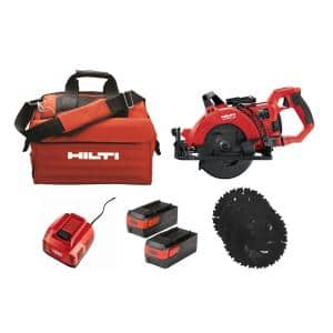 SC 60W-A 7-1/4 in. 36-Volt Cordless Brushless Worm Drive Circular Saw Kit with Li-Ion Battery Pack, SPX Blades and More