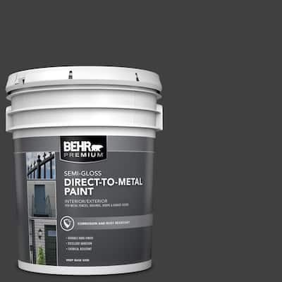 5 Gal. Black Semi-Gloss Direct-to-Metal Interior/Exterior Paint