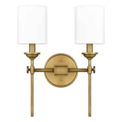 Wiltshire 2-Light Weathered Brass Sconce
