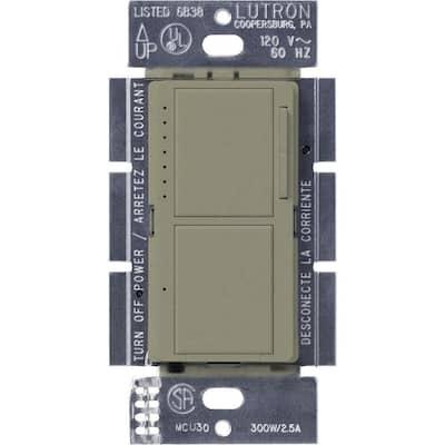 Maestro 300-Watt Single-Pole Dual Dimmer and Switch - Greenbriar