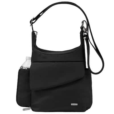 Anti-Theft Black Poly Messenger Bag