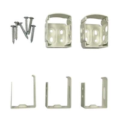 1 in. Cordless Vinyl and Aluminum Side Mounting Bracket Set in White