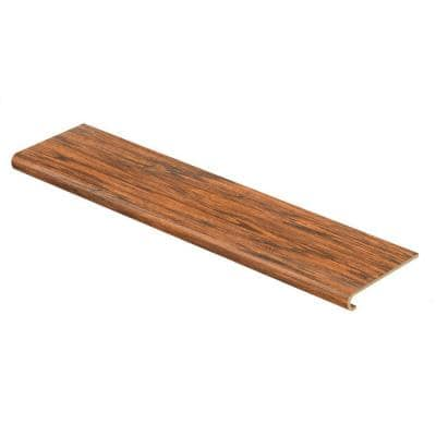 Distressed Brown Hickory 94 in. L x 12-1/8 in. W x 1-11/16 in. T Laminate to Cover Stairs 1 in. Thick