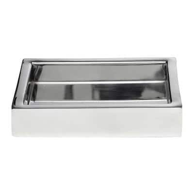 Stainless Steel Freestanding Soap Dishes Bathroom Decor The Home Depot