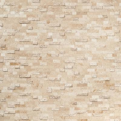Luxe Core Brick Crema 10.82 in. x 11.8 in. Marble Peel and Stick Tile (0.88 Sq. Ft. / Sheet)