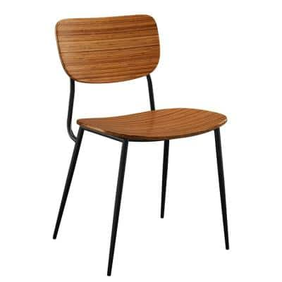 2-Piece Soho Amber Brown Side Chair