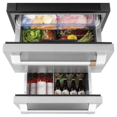 5.7 cu. ft. Built-in Undercounter Dual-Drawer Refrigerator in Stainless Steel