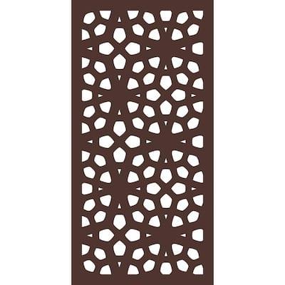 5/16 in. x 24 in. x 48 in. Marakesh Modular Hardwood Composite Decorative Fence Panel