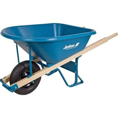 5.75 cu. ft. Heavy Duty Corrosion-Proof Poly Wheelbarrow