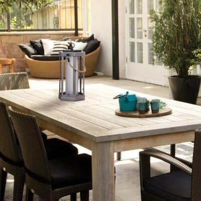 Aston 14 in. Faux Wood LED Integrated Battery Operated Outdoor Table Lamp